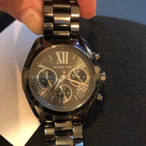 Michael Kors Bradshaw Gunmetal Tone Watch - Womens